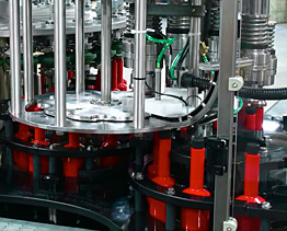 máquina rotativa de llenado y taponado